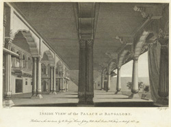 Inside view of the Palace at Bangalore. W2567/1